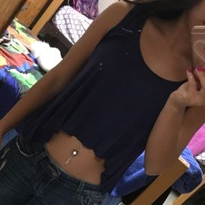 Crop top with beautiful design in the back.